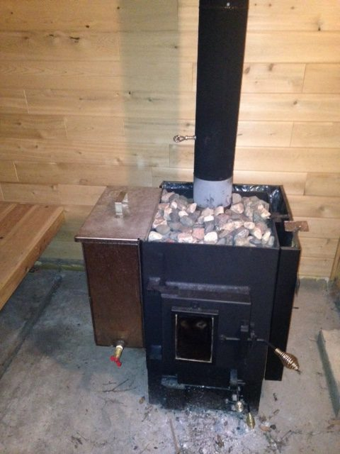 Michael h kuuma wood sauna stove kuuma for How to build a wood burning sauna stove